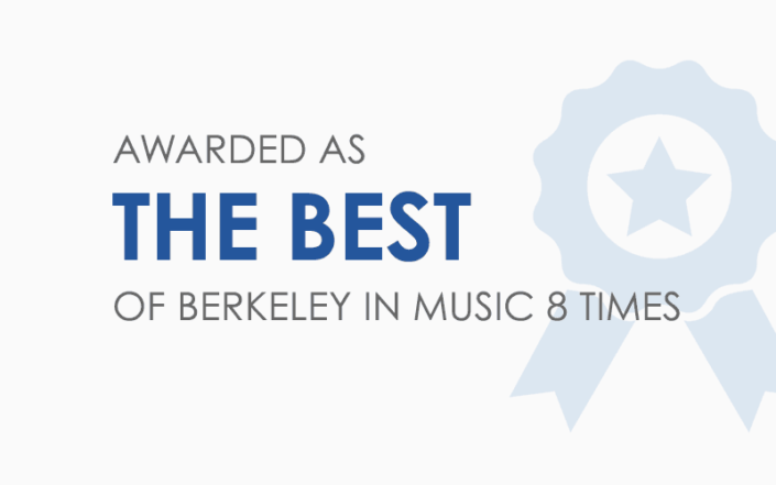 Music school Manhattan - Awarded as the Best of Berkeley in music 8 times