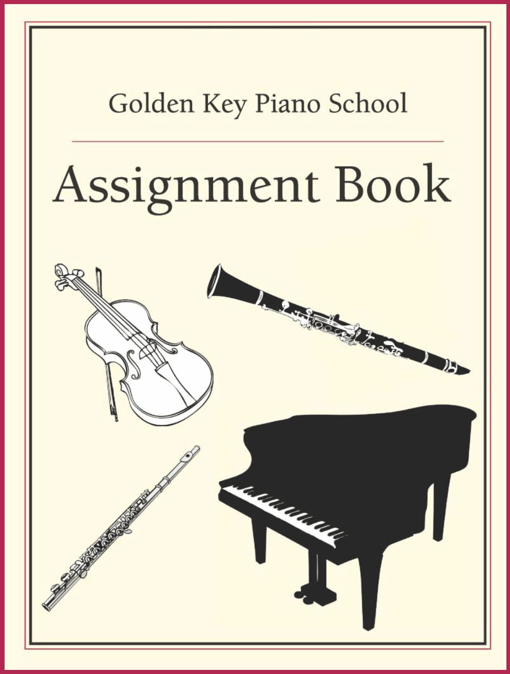 Assignment Book - Piano lessons Manhattan